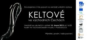 Pozvánka na výstavu Keltové ve východních Čechách